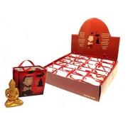 Meditatie boeddha in tasje met kaartje