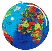 Opblaasbare wereldbol 30 cm