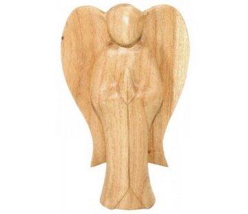 Engel handgemaakt van hout 10 cm