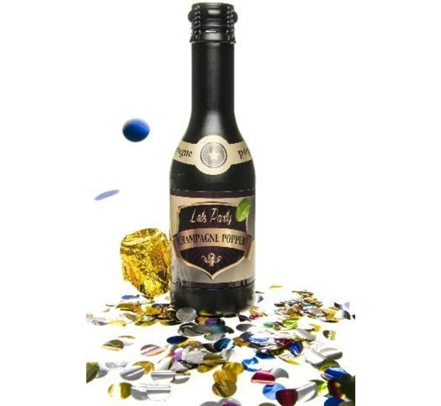 Party popper champagne fles groot