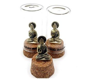 bronzen geluks boeddha