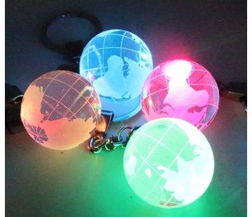 Sleutelhanger wereldbol met ledlicht