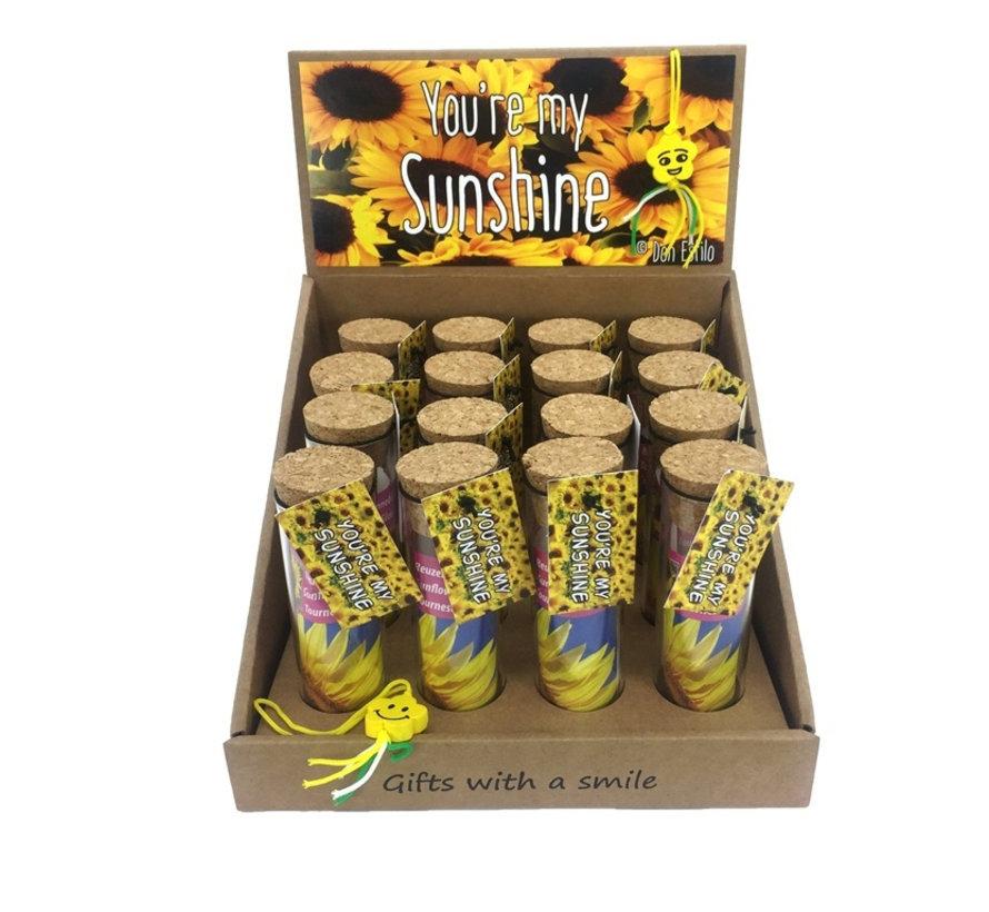 5190f308fa6739 Zonnebloem cadeau you're my sunshine - Uitdeelcadeautjes.nl