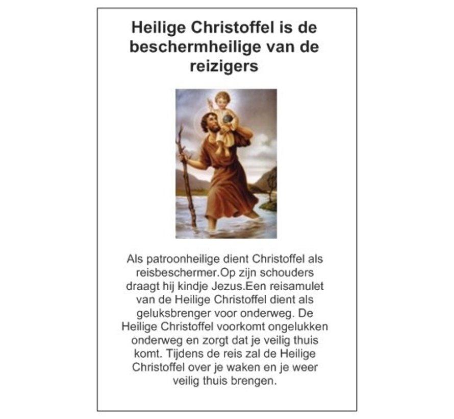 Christoffel sleutelhanger 8 hoekig