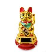 Lucky Cat Solar Goud klein