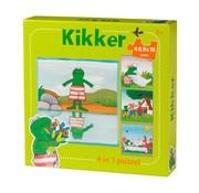 Kikker puzzel 4 in 1