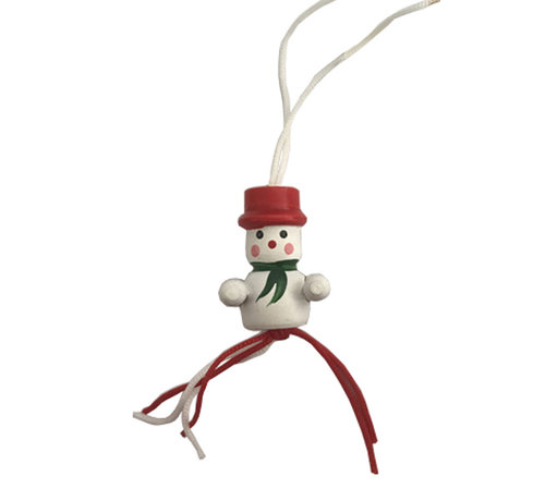 Gelukspoppetje sneeuwpop met handjes 10 stuks