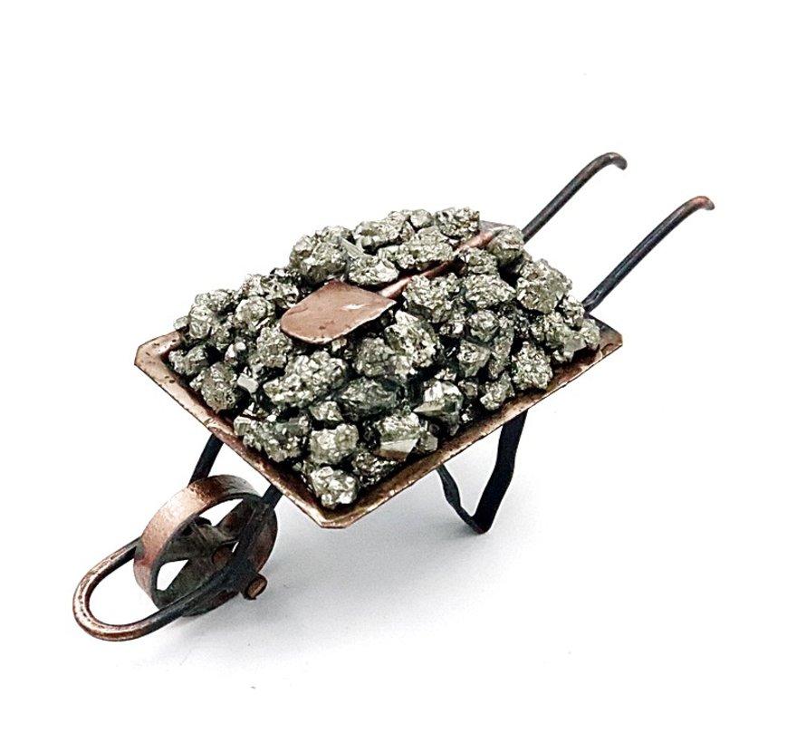 Kruiwagen met pyriet