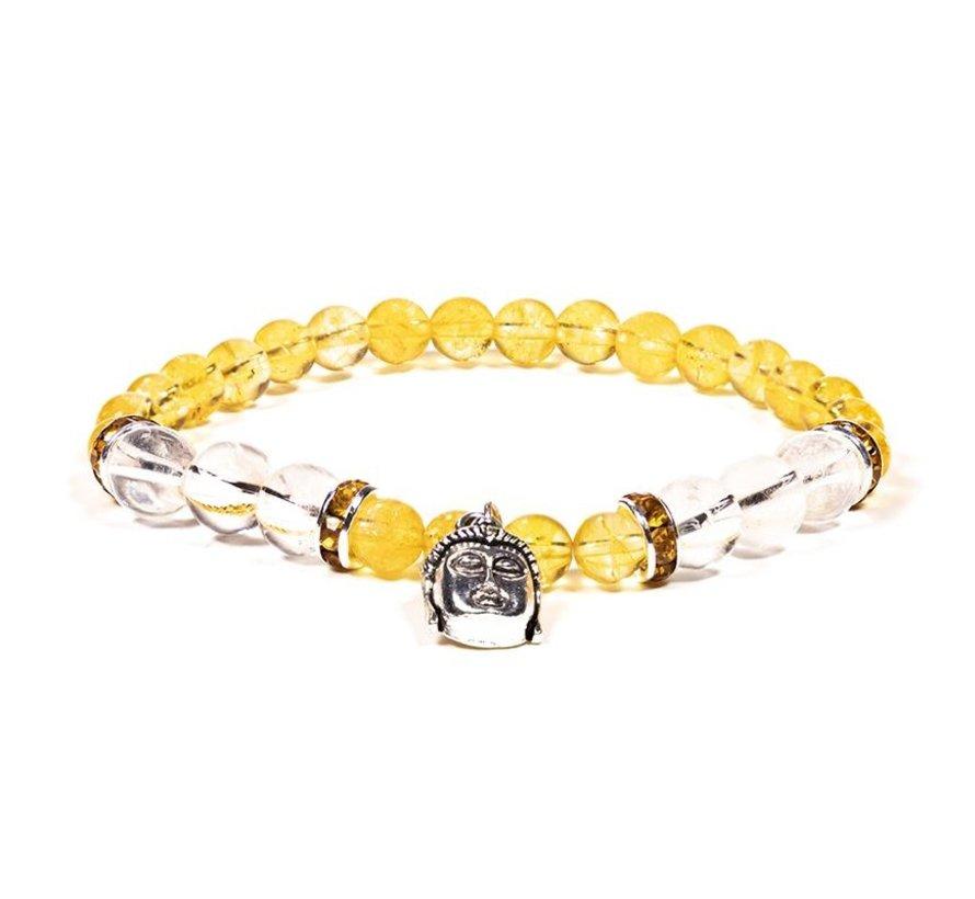 Armband citrien bergkristal met boeddha