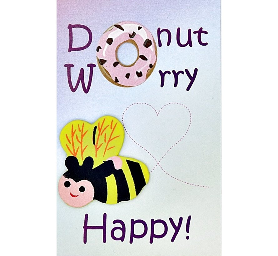 Kaartje donut worry bee happy