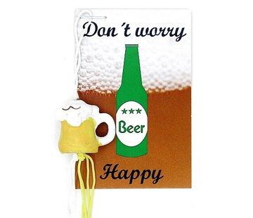 Kaartje beer happy