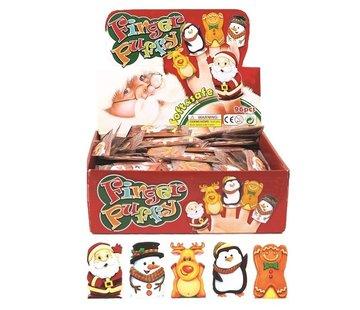 Vingerpopjes kerstfiguren 5 stuks