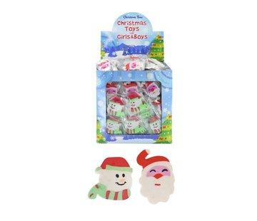 Kerstfiguren gummen