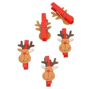 Houten knijper Kerst rendier