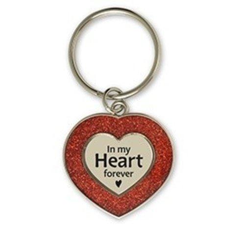 Glitter sleutelhanger in my heart forever