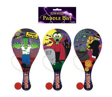 Houten racket met bal Halloween