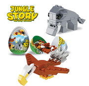 Bouwblokjes jungle dieren