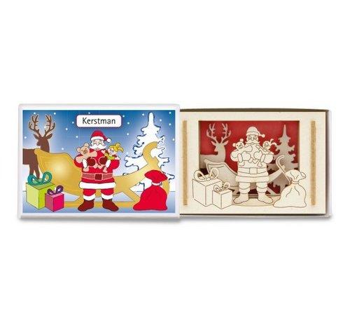 Mini silhouet luciferdoosje Kerstman