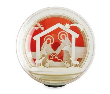 Silhouet Globe 8 cm kerststal
