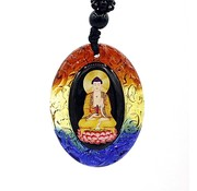Hanger boeddha gekleurd glas