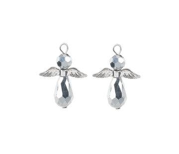Engel hanger zilver kleur