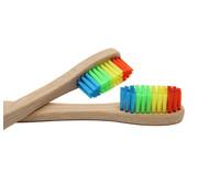 Tandenborstel bamboe regenboog 2 stuks