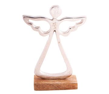 Engel beeldje metaal 15 cm