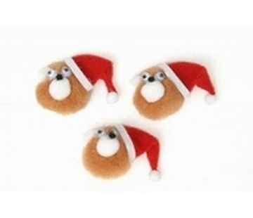 Kerst beer met plakker 3 stuks