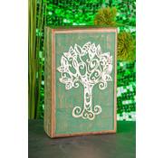 Houten opbergdoos Keltische levensboom