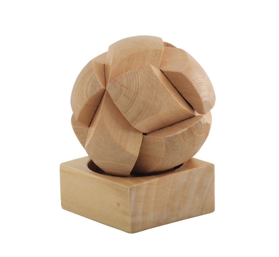 Puzzelbal 6 delig hout