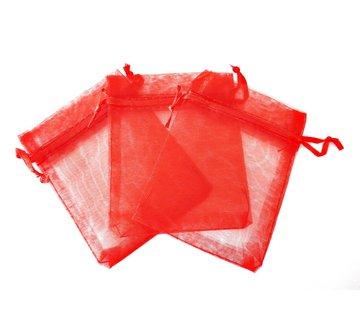 Organza zakje rood 7,5 x 10 cm