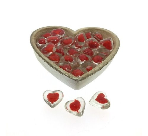 Glas Hart in hart in schaal 32 stuks