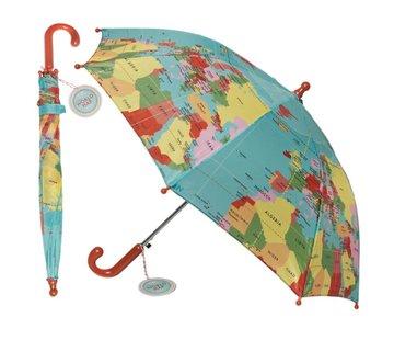 Paraplu kinderen vintage world map