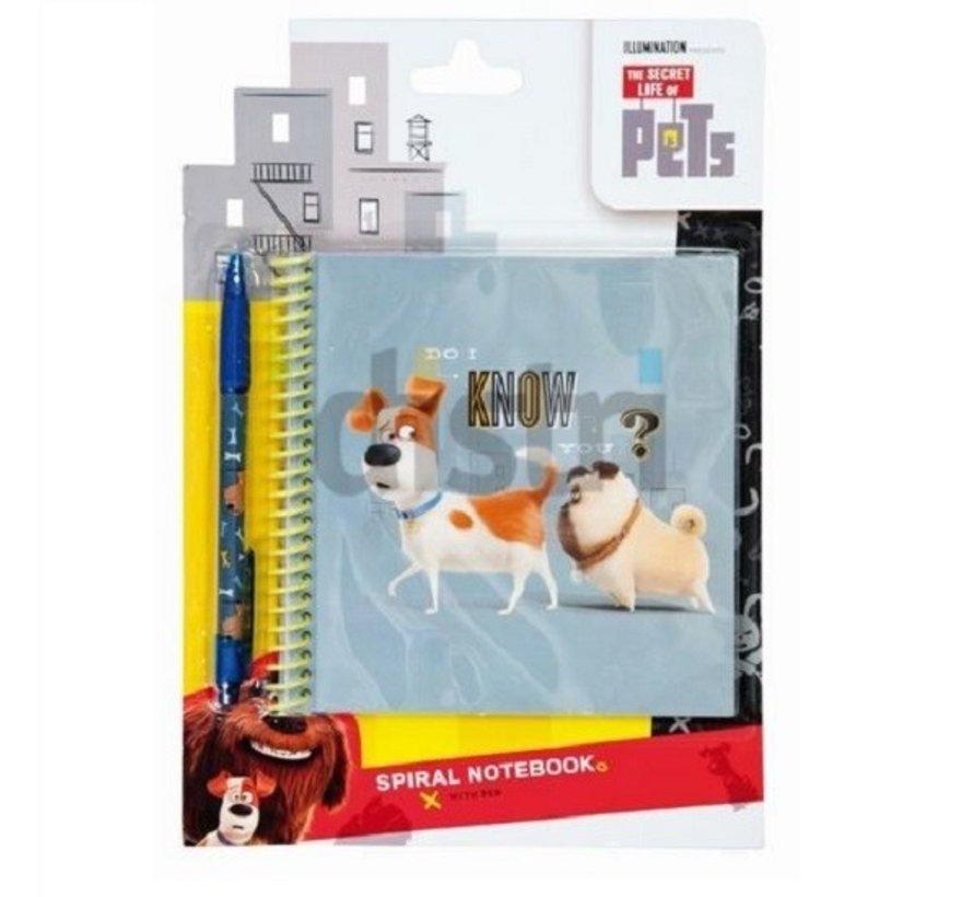 Secret life of pets notitieboek en pen