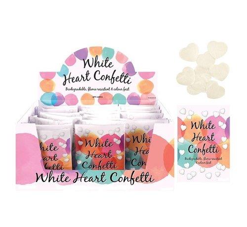 Witte hartjes confetti