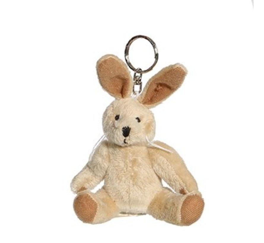 Pluche sleutelhanger konijn