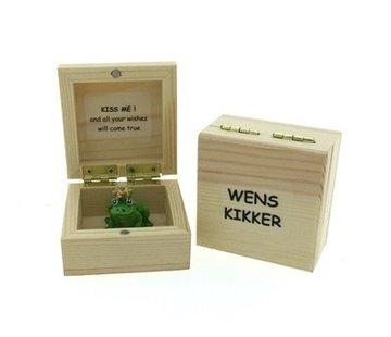 Wenskikker Kiss me in kistje
