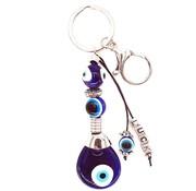 blauwe boze oog sleutelhanger Luck