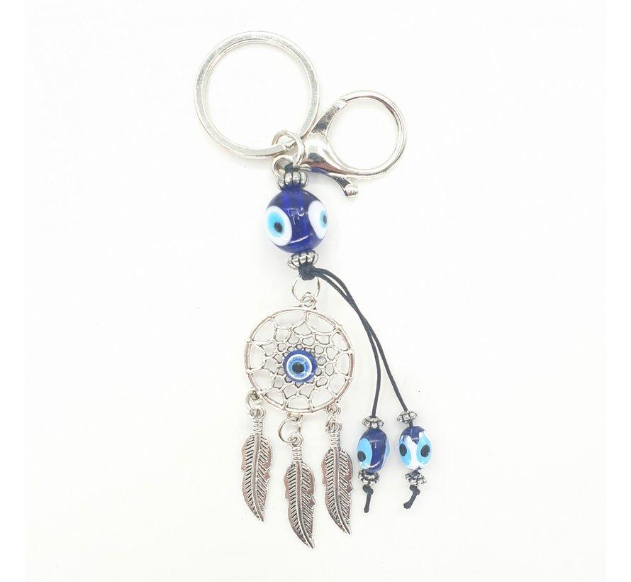 blauwe boze oog sleutelhanger Droomvanger