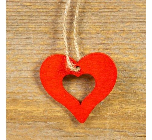 Houten hanger hart