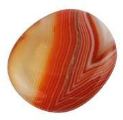 Platte steen Carneool