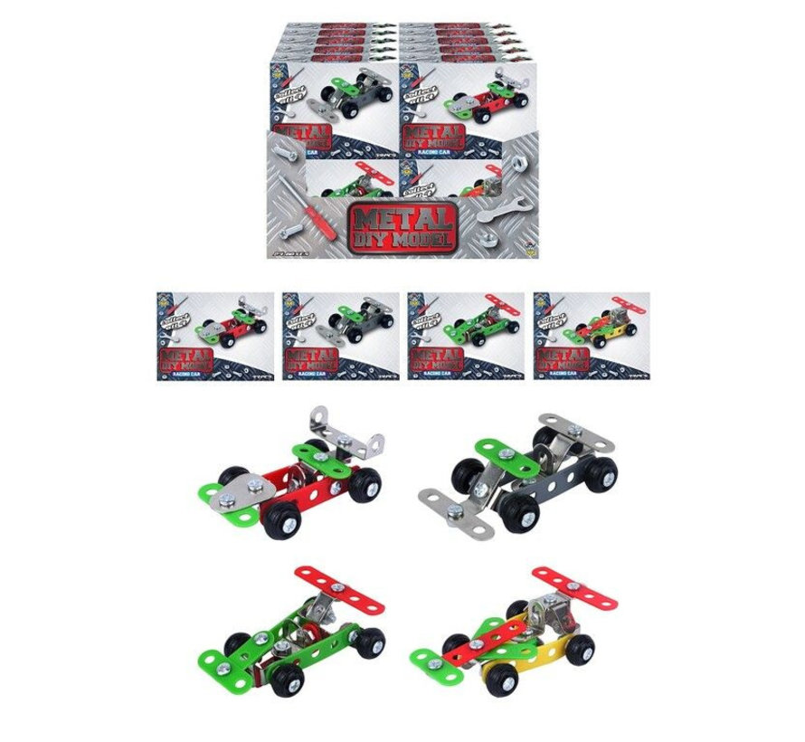 Metaal Raceauto bouwpakket