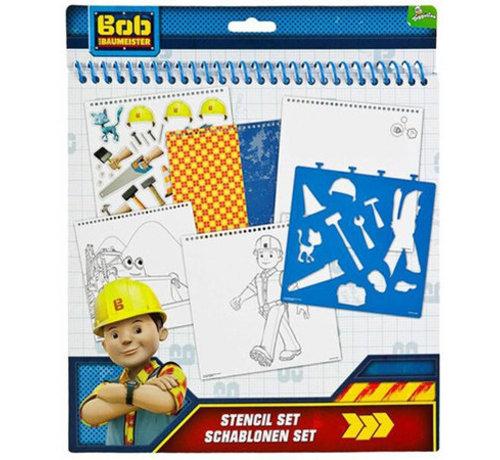 Bob de Bouwer kleur-en sjablonenset 32-delig