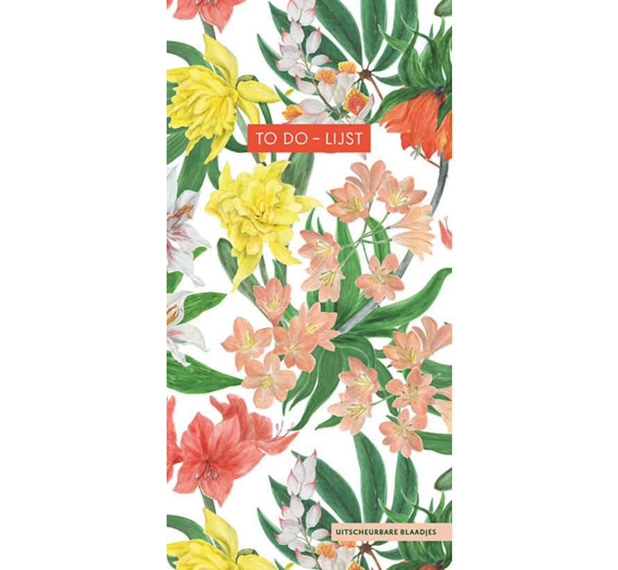 To do-lijst - Tropical Flowers