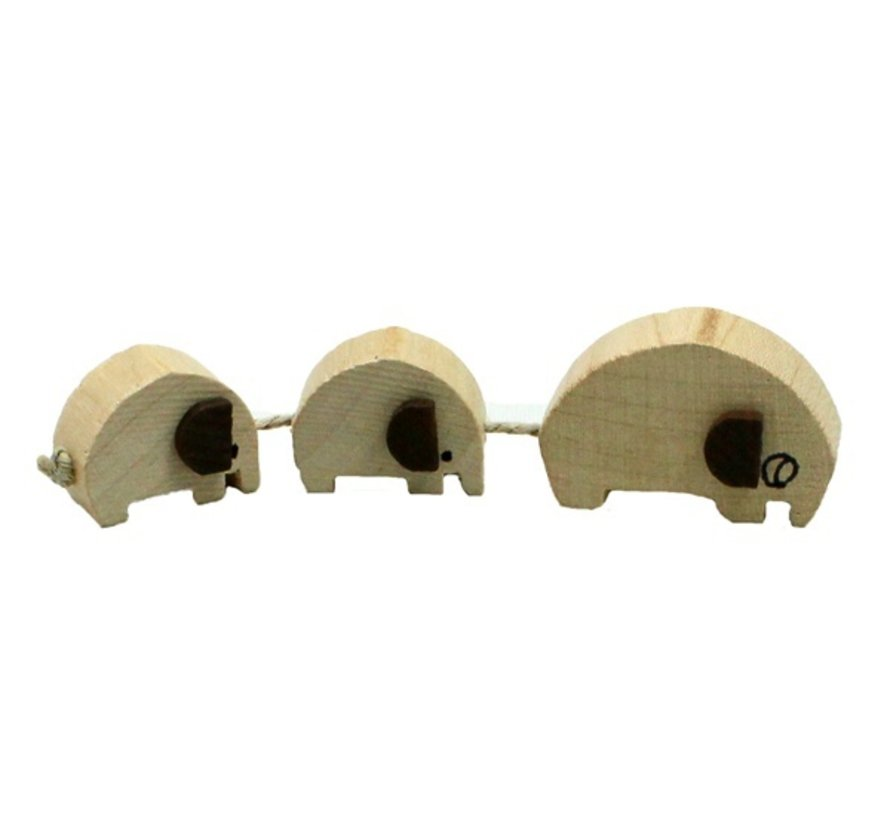 Olifant familie hout