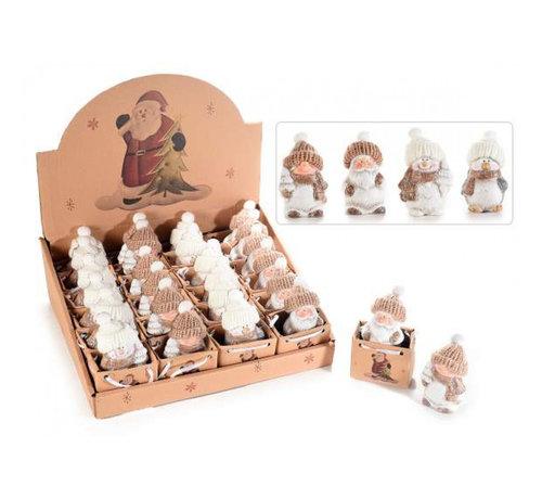 Kerstfiguren in cadeauzakje