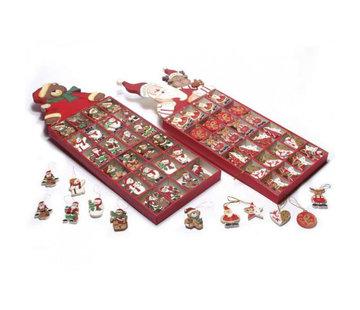 Kerstfiguren hout 144 stuks