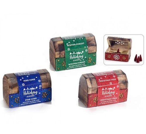 Kerst wierook kegels in kistje