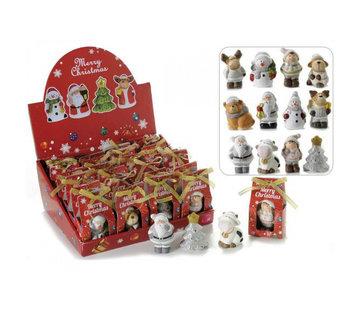 Keramische kerstfiguur in geschenkdoosje