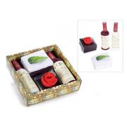wijnfles handdoeken cadeauset